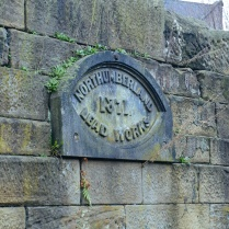 Plaque on the vestigial remains of the Northumberland Lead Works, now in Ouseburn Farm.