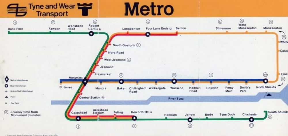 Cartography of the Tyne Wear Metro METAL AND DUST